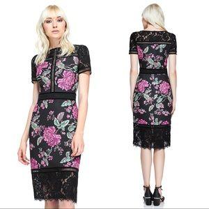 Tadashi Shoji Helena Floral Neoprene Sheath Dress